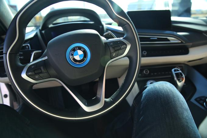 BMW i8 Interior Steering Wheel