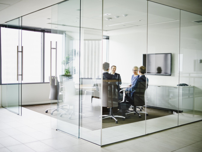 Group of business executives in conference room